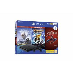 GAM SONY PS4 500GB + Spiderman + Horizon Zero + Ratchet and