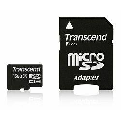 Memorijska kartica Transcend SD MICRO 16GB HC Class 10 + SD