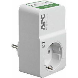 APC Essential SurgeArrest 1 Outlet 230V, 2 Port USB Charger