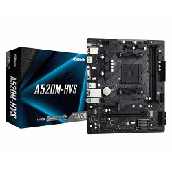 Asrock AMD AM4 A520M-HVS