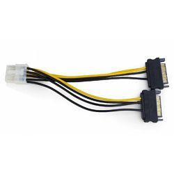 Gembird Internal power adapter cable for PCI express, 8 pin to SATA x 2 pcs