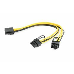 Gembird PCI-Express 8-pin to 2x PCIe 6 2 pin power splitter cable, 0.3 m