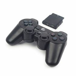 Gembird Wireless dual vibration gamepad, PS2 PS3 PC