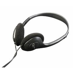 Gembirb Stereo headphones with volume control, black color