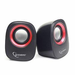 Gembird Stereo speaker, black red