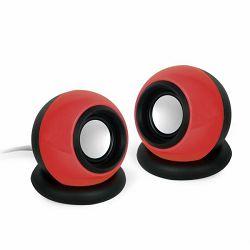 Gembird Stereo speaker 'Sphere', black-red