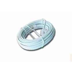 Gembird Telephone cord 6P4C, 3 meters, white