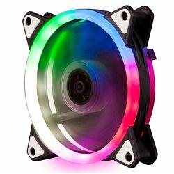 NaviaTec PC Case Fan 120mm, Colorful LED