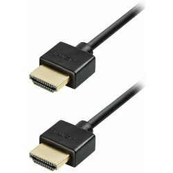 NaviaTec 1.4 HDMI to HDMI Slim Plugs Kabel 4,5m, gold plugs