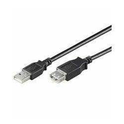 NaviaTec USB 2.0 A Plug to A jack 2m black
