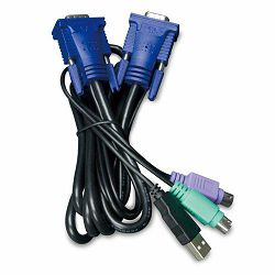 Planet 5,0M USB KVM Cable with built-in PS2 to USB Converter