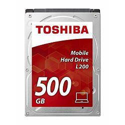 Toshiba 500GB HDD, 2,5