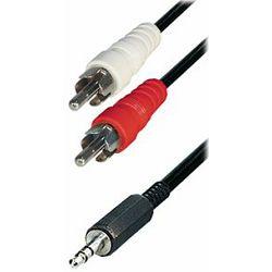 Transmedia Cable 2x RCA-plug - 3,5 mm stereo plug, 3m