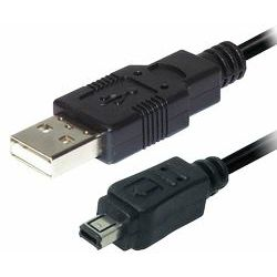 Transmedia USB type A plug - 4 pin mini USB plug, 2,0 m