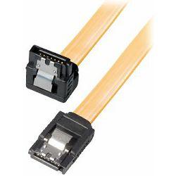 Transmedia HDD SATA cable 1.5 3 6 Gbit s 7 pin SATA L-type plug 0,5m
