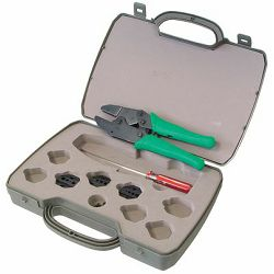 Transmedia Crimping Tool Set for most useable fibre optical plugs