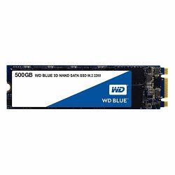 Western Digital 500GB SSD, Blue 3D, M.2 SATA