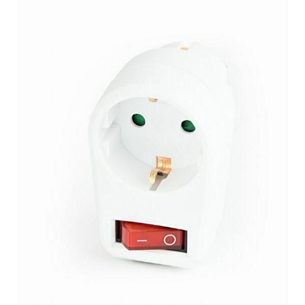 Gembird Switchable plug-in socket, Schuko, white