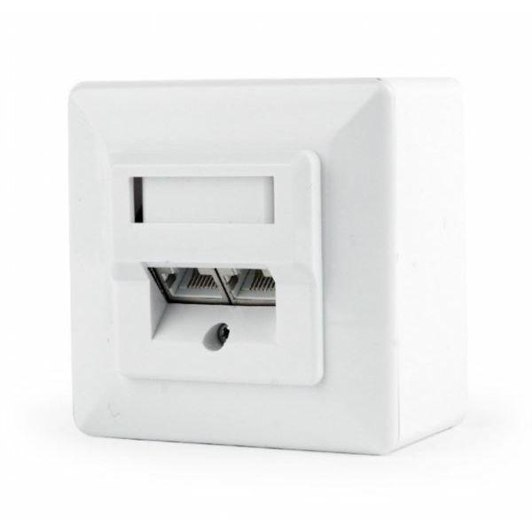 Gembird CAT6 STP 2-port wall mount face plate